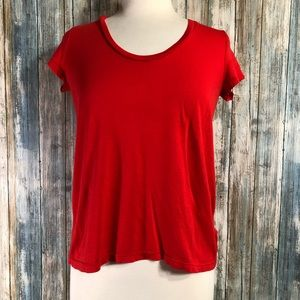 Splendid red cotton tee size Large
